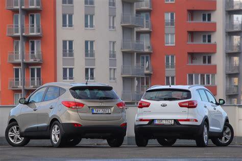 Hyundai Ix35 Or Kia Sportage Kia Sportage Vs Hyundai Ix35 1 7 Crdi 4x2 Autohit