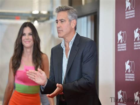 us actor george us actor george clooney and us actress sandra bullock pose