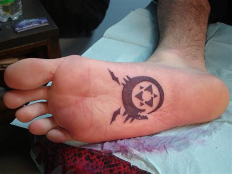 bottom of foot tattoo by inkaholick on deviantart