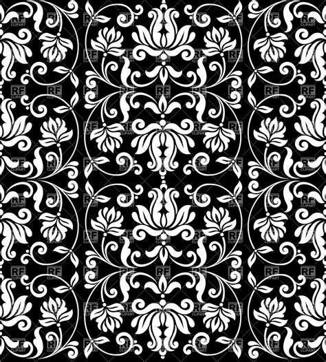 black and white seamless vintage wallpaper royalty free seamless damask wallpaper with floral elements vintage