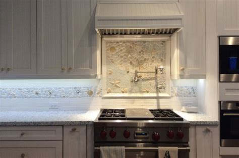 bright kitchen nautical border and matching backsplash