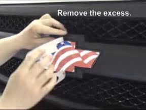 vehicle emblem wrap decal kit installation