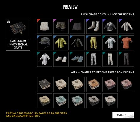 pubg crates pubg s new crate items including gamescon fetch high