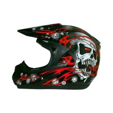 Helm Snail 309 Green Motif jual helm motocross snail gm fox harga diskon baru