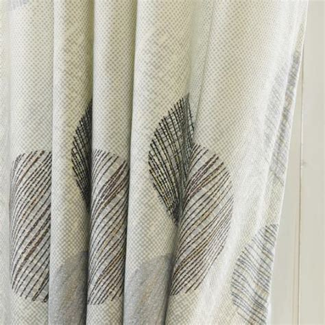 Gray Burlap Curtains Gray Print Polka Dot Burlap Print Living Room Curtains In Modern Style