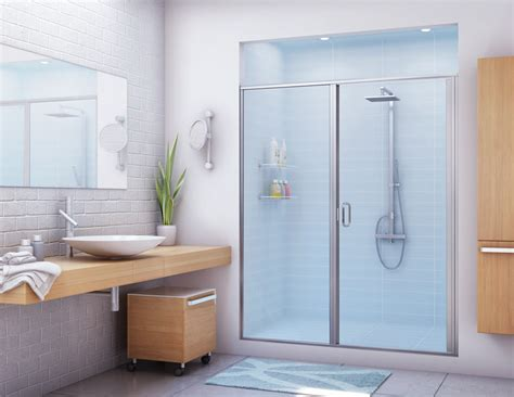 Frameless Shower Doors For Fiberglass Showers by Stik Stall Shower Door Models Shower Doors Bathroom
