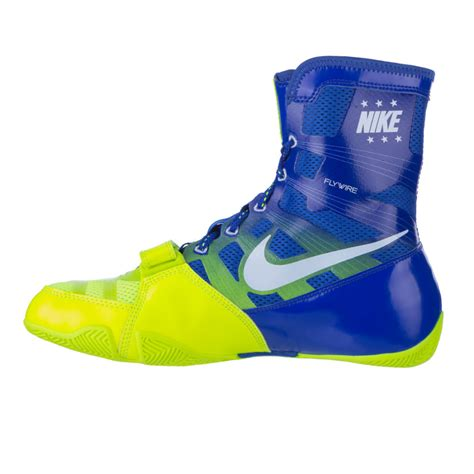 nike neon shoes boxing shoes nike hyperko blue neon green fighters