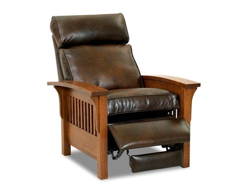 Leather Mission Style Recliner mission style leather recliner mission leather recliner