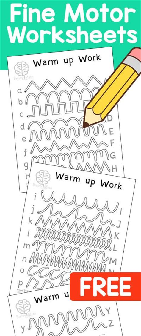Motor Skills Handwriting Worksheets by 1000 Images About Motor Activities On
