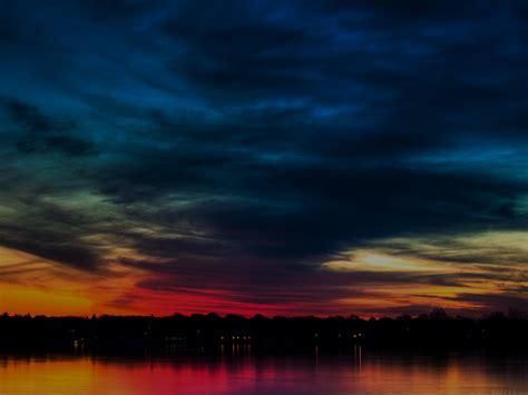 mj rainbow   sky dark lake sea nature wallpaper