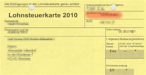 Rechnung Privatperson Steuer Identifikationsnummer Wo Findet Die Steuernummer Auf Der Lohnsteuerkarte Wirtschaftsfrage De
