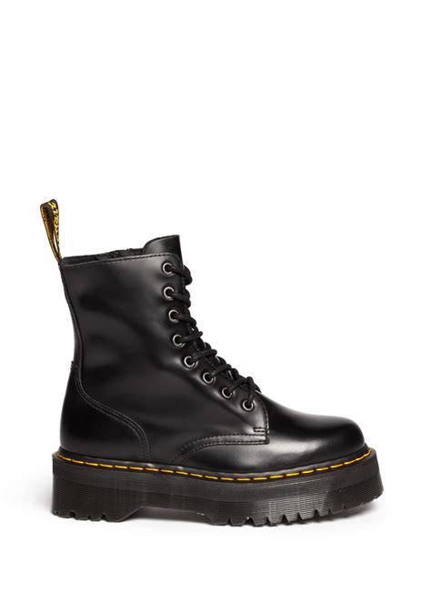 dr martens jadon leather boots in black lyst