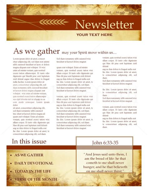 fall newsletter design template newsletter templates