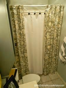 mcentire house makeover 2 shower curtain panels