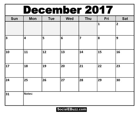 printable planner december 2017 december 2017 calendar pdf printable calendar hub