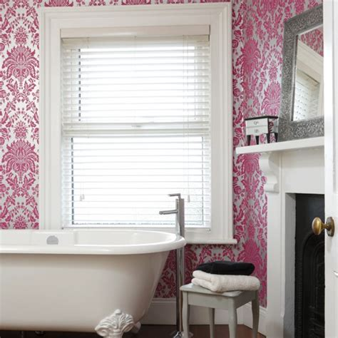 bathroom wallpaper ideas uk think fuchsia pink bathroom wallpapers housetohome co uk