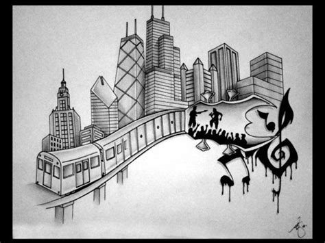 chicago skyline tattoos search draw