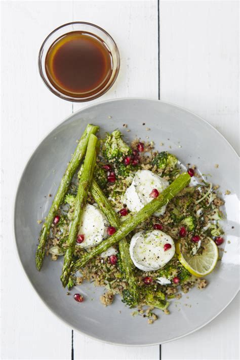 can pomeranians eat cheese asparagus and goats cheese salad with acai and pom dressing bioglan superfoods