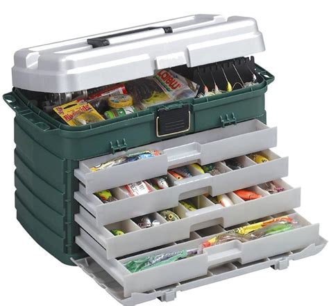 plano 758 large 4 drawer tackle box with removable tackle