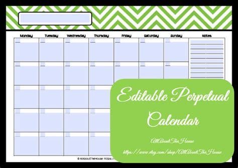 family calendar template 2014 editable printable calendar perpetual calendar chevron