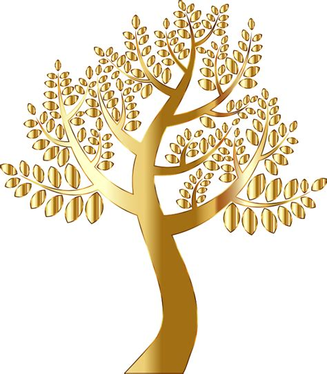 gold tree clipart simple gold tree without background