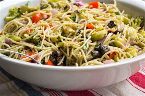 pasta salad with spaghetti noodles spaghetti noodle pasta salad gluten free