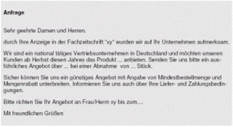 Allgemeine Anfrage Brief Die Anfrage Akademie De