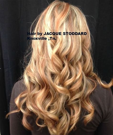 hair with copper lowlights blonde with copper lowlights beauty and style pinterest
