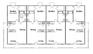 Three Plex Floor Plans by Four Plex Building Plans