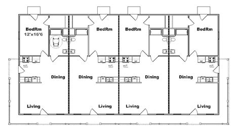 4 plex townhouse floor plans 4 plex apartment floor plans 4 plex home plans house plans home designs