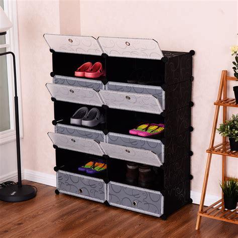 giantex  cubic portable shoe rack shelf modern
