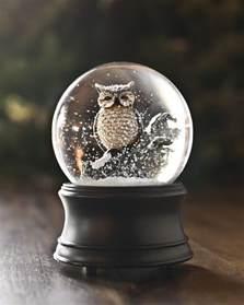 musical owl snow globe balsam hill australia