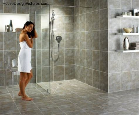 idea for fitting bathtub walk in shower in a small space doorless shower design ideas housedesignpictures com