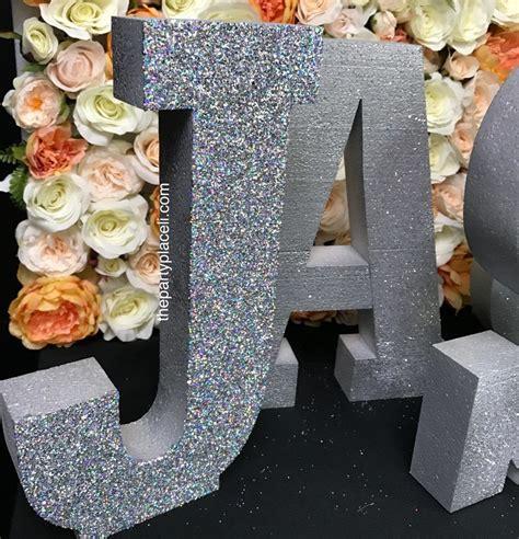large foam letters  party place li  party