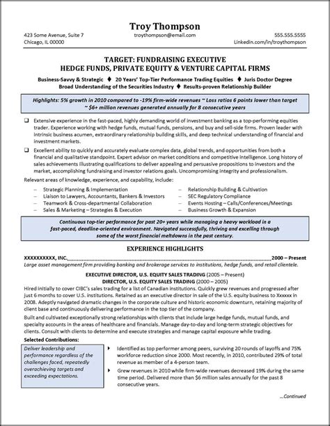 Resume Services by Financial Services Resume Exle For Executive