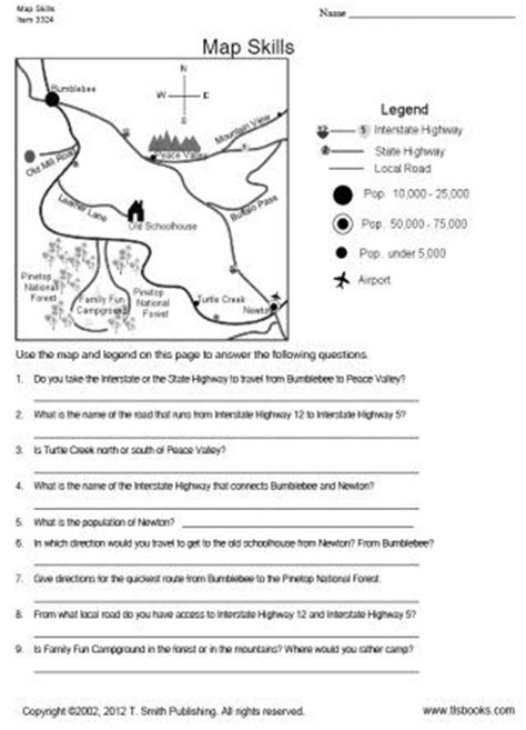printable map worksheets for 4th grade map and globe skills worksheets 2nd grade map skills