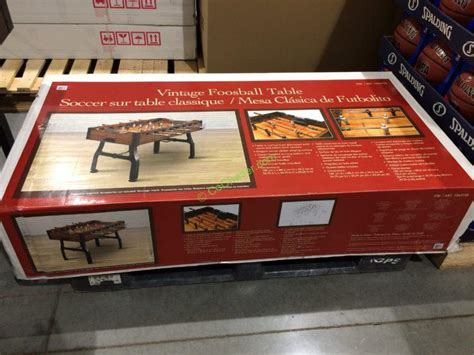 vintage foosball table costco costco 1063755 vintage foosball table box costcochaser
