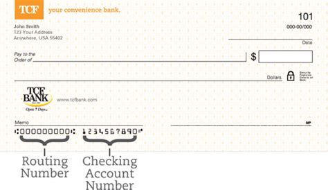 bank routing number image gallery tcf check