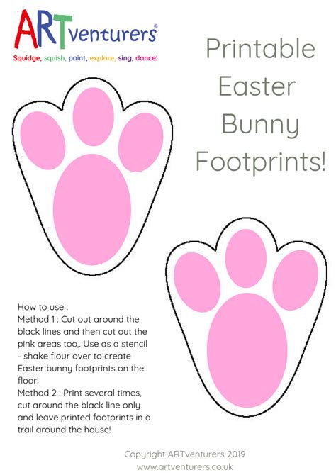 easter bunny footprint template archives