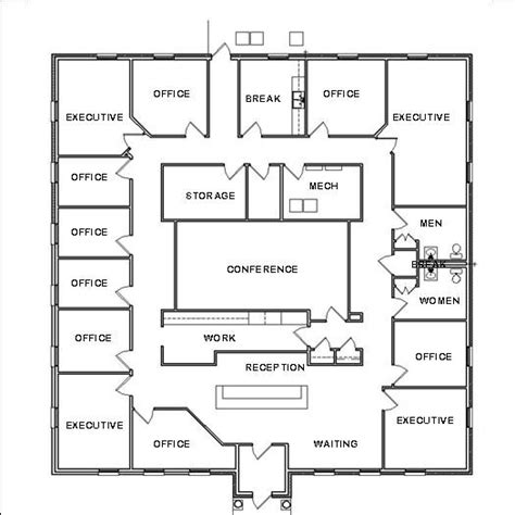 architect office plan layout office design plans house space planning ideas blueprint