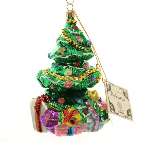 polonaise ornaments christmas tree 2 glass presents teddy