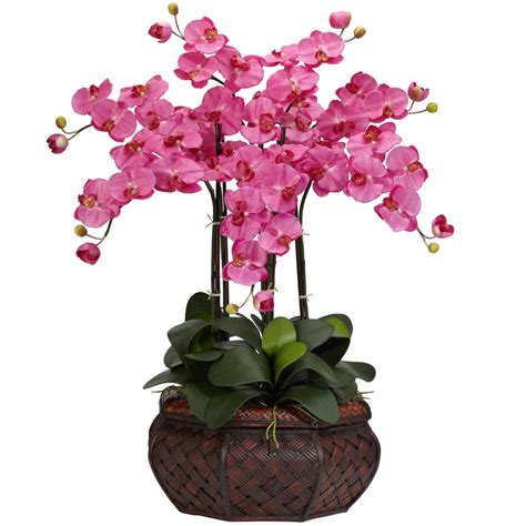 Artificial Decorative Trees For The Home by Large Phalaenopsis Orchid Silk Flower Arrangement 1201