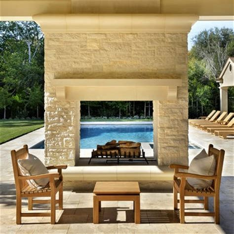 see through outdoor fireplace back deck