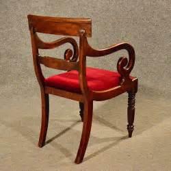 antique regency scroll arm chair office desk study antiques atlas