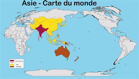 du monde asie carte du monde arts et voyages