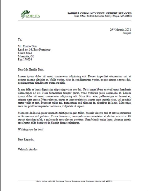 Business Letter Template Libreoffice 5 6 1 Writer Sdevnet Org