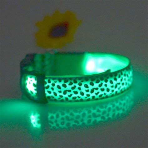 light up collar pet led safety collar light up leopard led collars in collars
