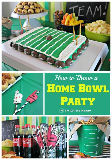how to throw a house party how to throw a home bowl party football field cake