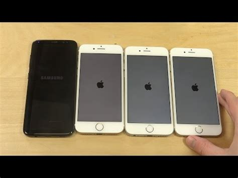 samsung galaxy s8 vs iphone 7 vs iphone 6s vs iphone 6 which is faster