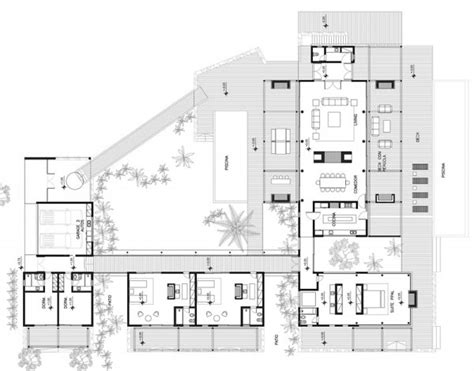layout design in house concrete modern house plans modern beach house plans